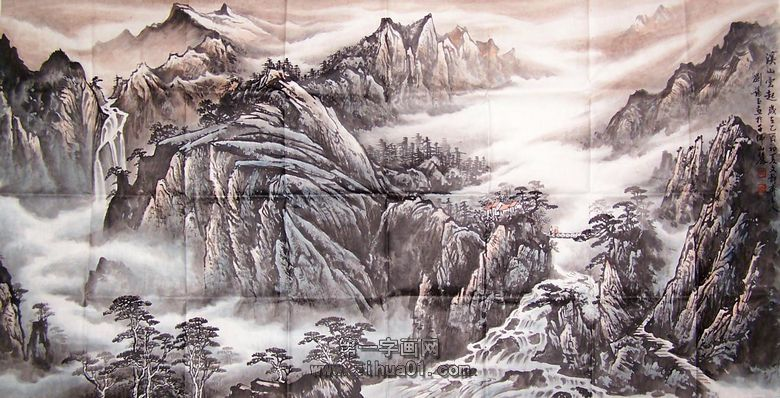 名家山水画欣赏图片
