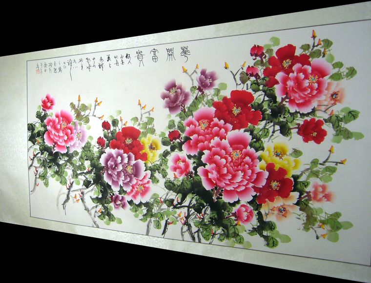 六尺国画牡丹 - 第一字画网