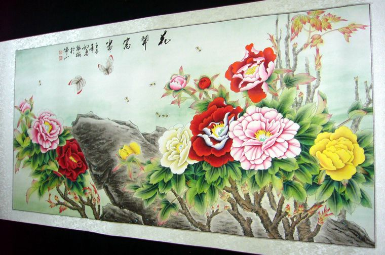 工笔画牡丹花欣赏