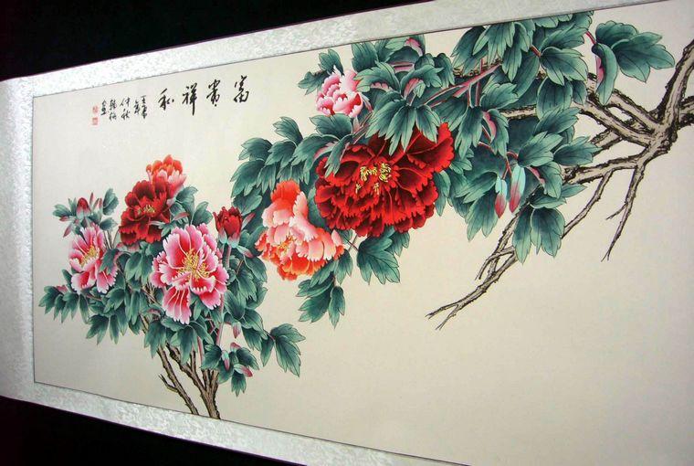 国画工笔牡丹 - 第一字画网