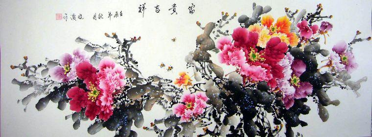 国画牡丹画