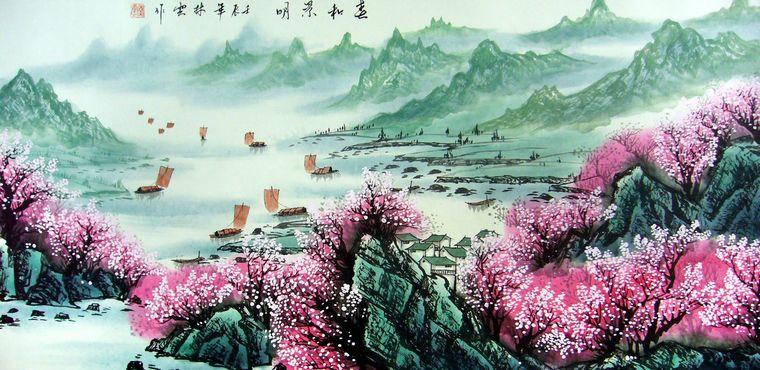 客厅山水风景画