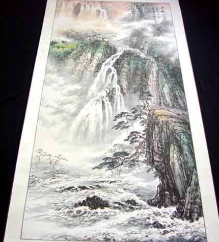 四尺竖幅山水画