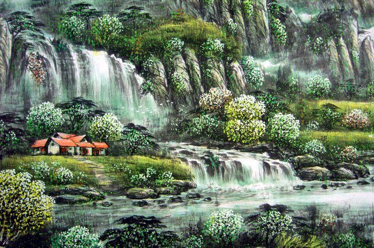 壁纸 风景 旅游 瀑布 山水 桌面 760_504