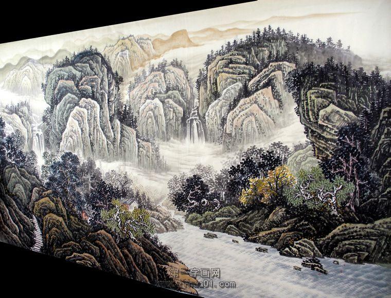 大写意桂林山水画分享展示