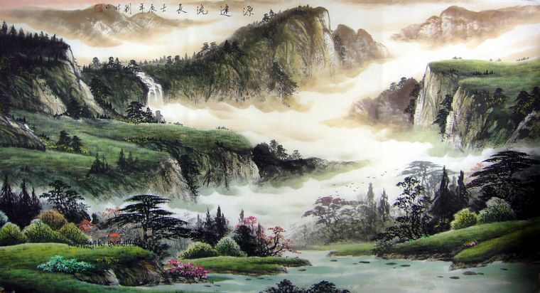 国画山水画作品欣赏