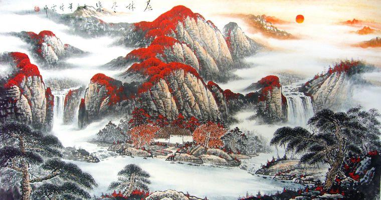 客厅墙上挂什么山水风景画 山水画调节风水好运势