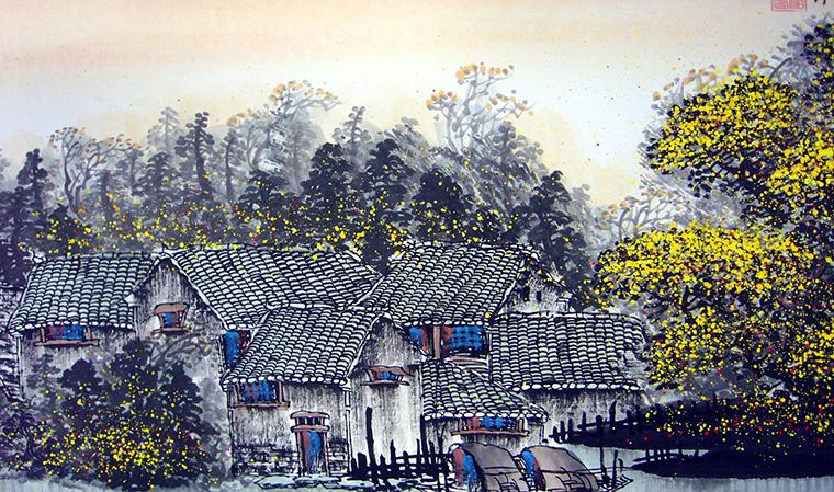 《江南春》的手绘图