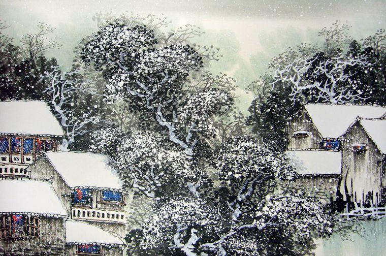 江南山水画图片