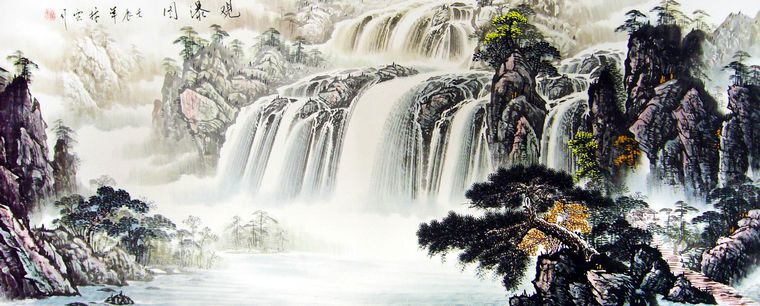 中国现代山水画图片