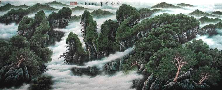 国画中的写意山水画怎么画一般情况下是临摹写生是从右下角往上面推