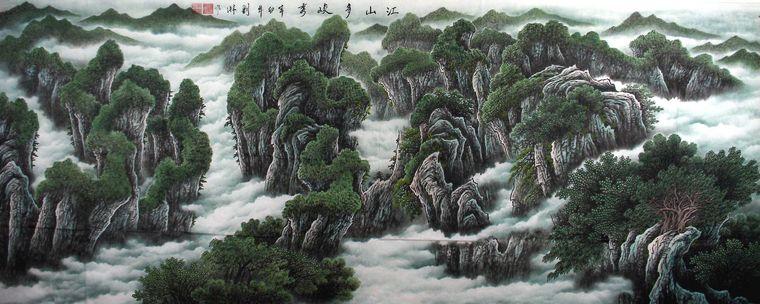 桂林山水手绘图