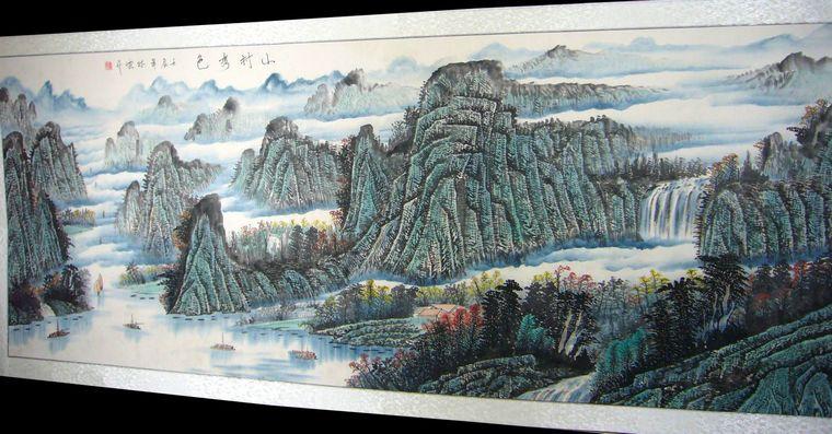 国画写意山水画
