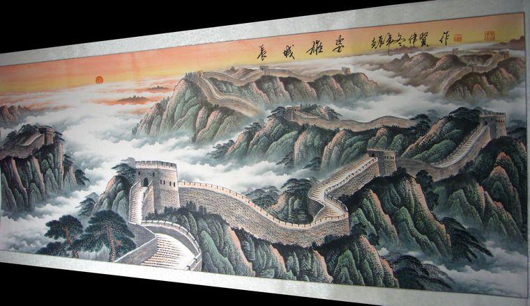 绘画分享 绘画作品 万里长城图片  万里长城图画大全大图 宽500×375