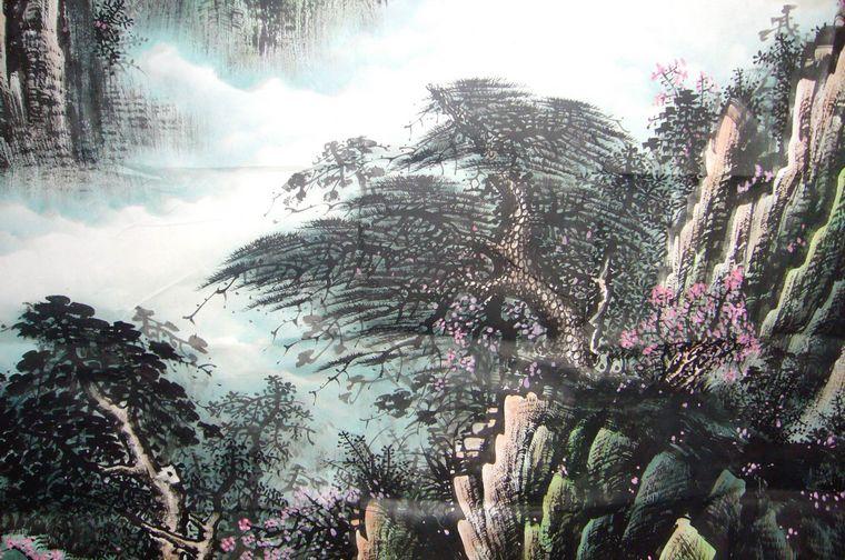 南宁风景手绘画