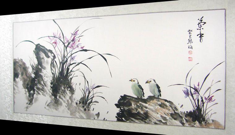 高清壁纸下载手绘兰花