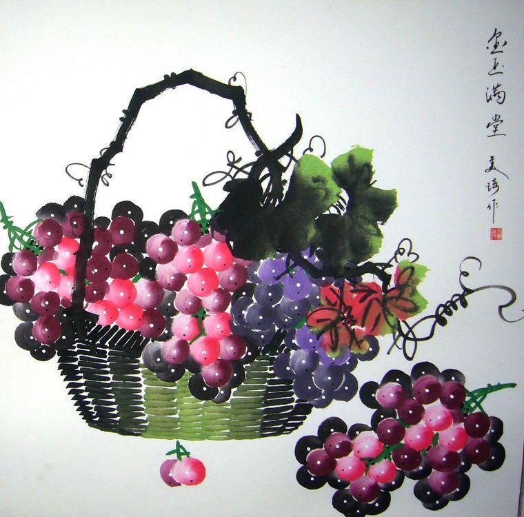 国画葡萄|国画葡萄的画法
