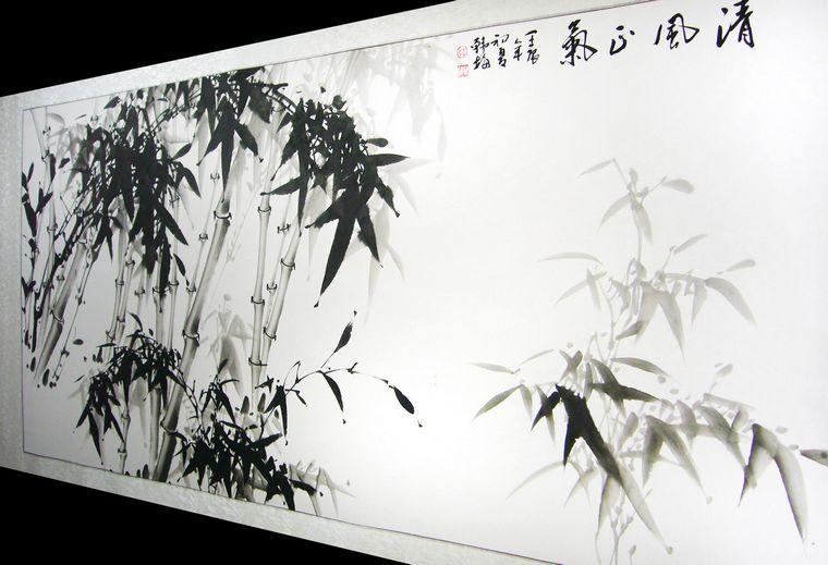 水墨画竹子
