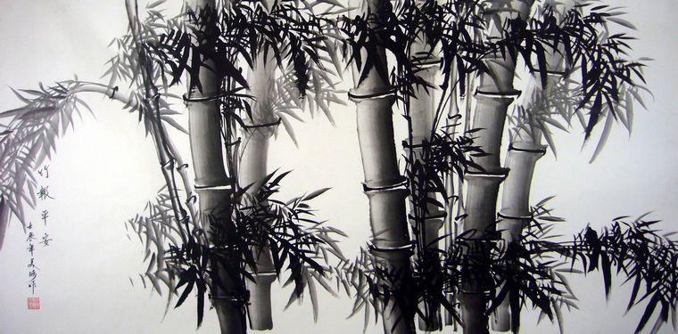水墨画竹子步骤图片大全