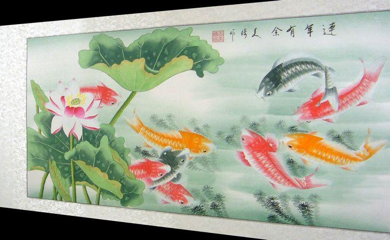 工笔画鱼 - 第一字画网
