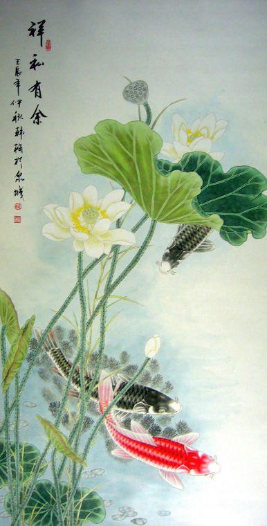 工笔画白描底稿 荷花蜻蜓蜜蜂工笔画花鸟画国画字画