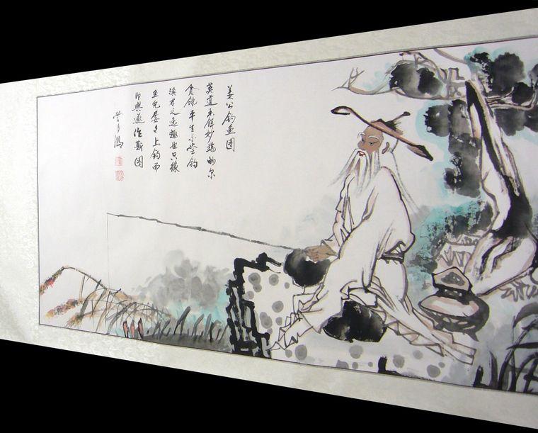 姜太公钓鱼图