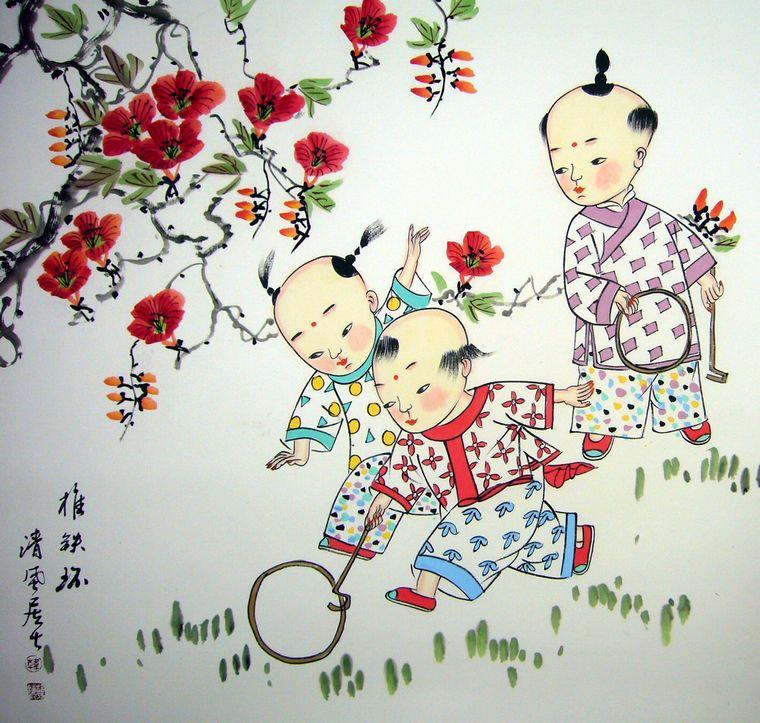 国画童趣图图片