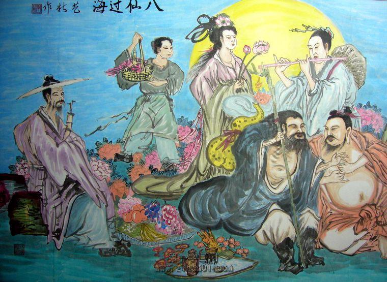 人物画八仙过海