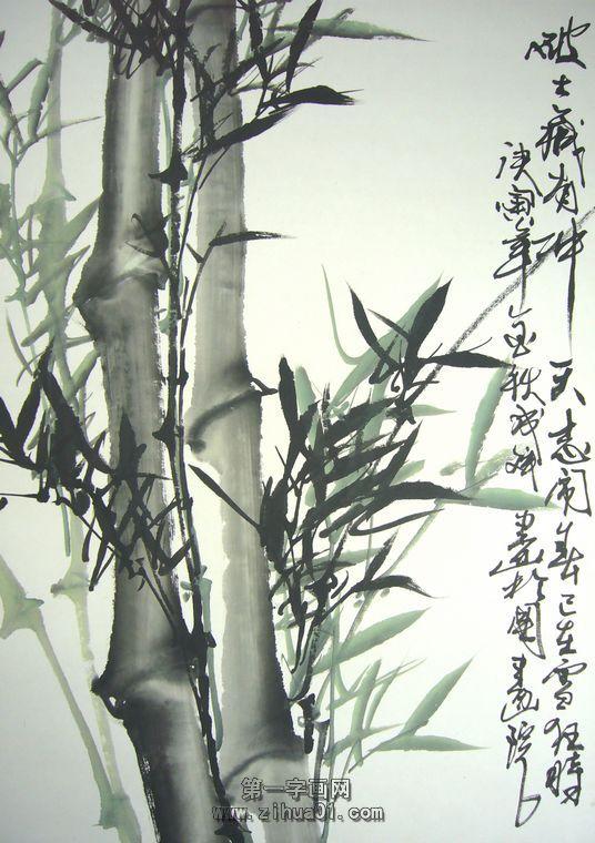 竹子国画水墨画图片-名家国画竹子图片大全|国画写意