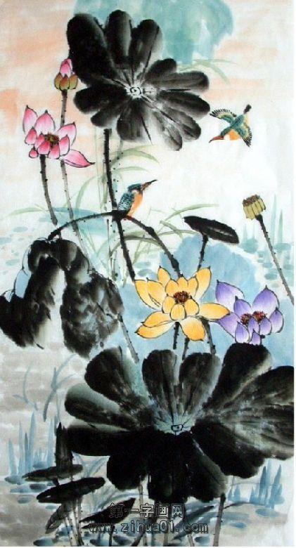 工笔花鸟画作品欣赏-中国画的主要特点