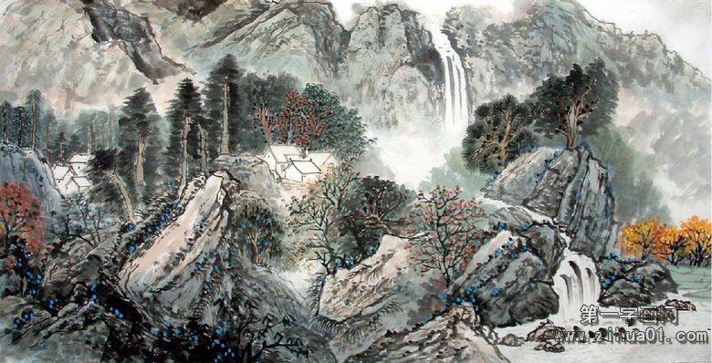 中国书法院院长管峻南京精品书画展现场作品欣赏图片