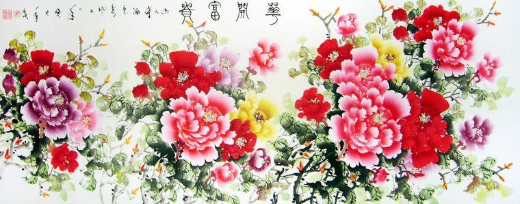 国画牡丹花 - 第一字画网