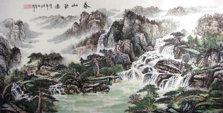 六尺写意国画山水