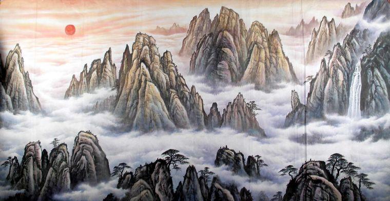 横幅山水图片大全 六尺横幅山水画图片