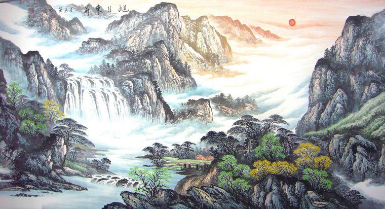 客厅风景山水画