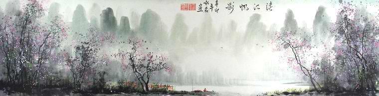 客廳風景山水畫 - 第一字畫網
