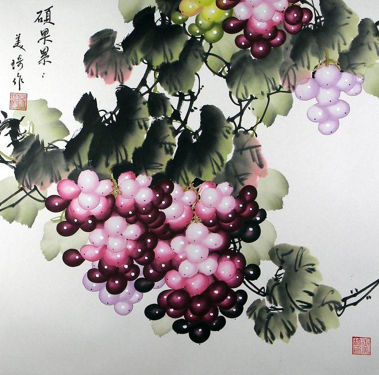 答:葡萄在中国画的表现中,主要有工笔和写意画法,下面就这两方面逐一介绍。 工笔画法:在进行工笔表现葡萄时,首先要勾勒出葡萄的结构,包括叶子的外形、叶脉;果实的形状及组合;藤的缠绕多姿的动态等。在进行这些步骤时,要注意笔的使用,也就是...