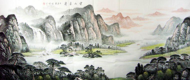 国画山水_八尺国画山水