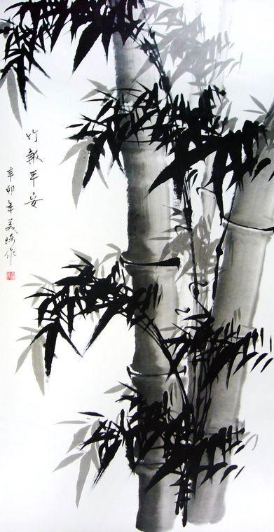 水墨画竹子,竹子的水墨画