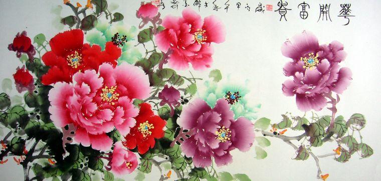 花开富贵牡丹画