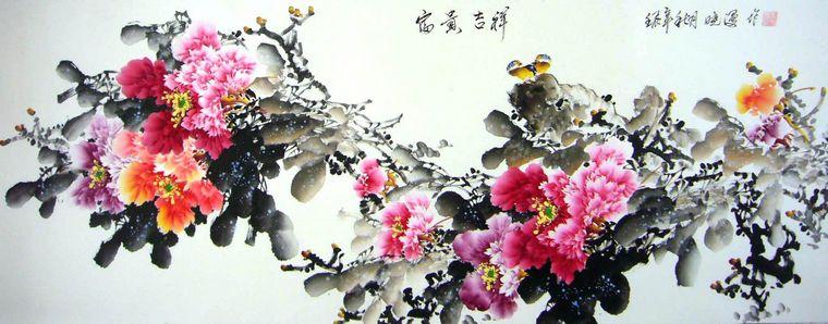 国画牡丹画 - 第一字画网
