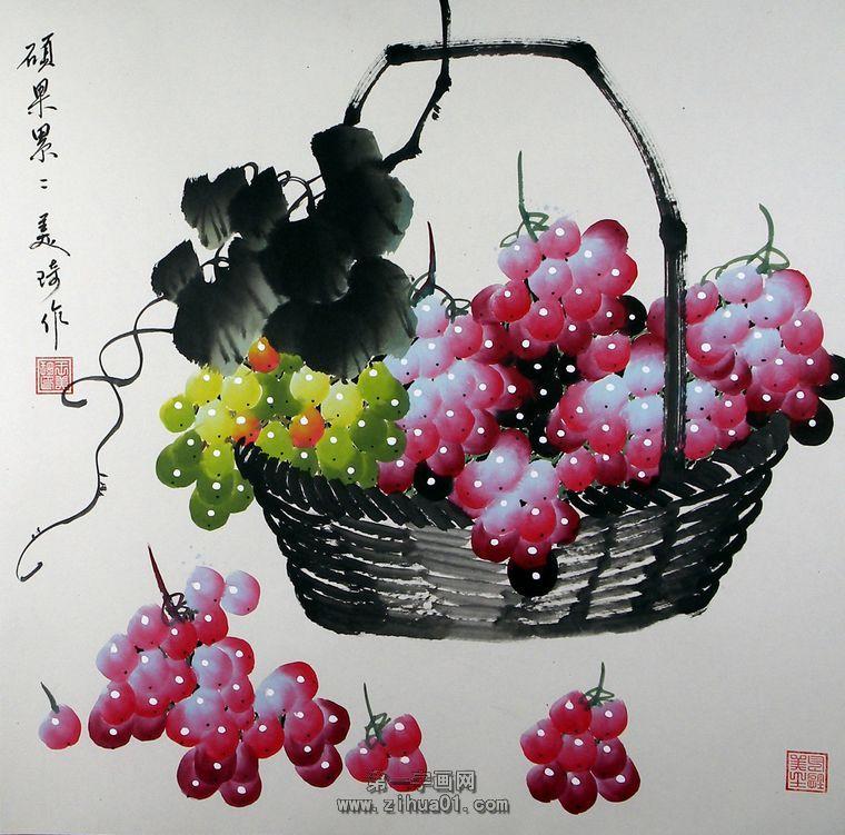国画葡萄_国画葡萄的画法教程