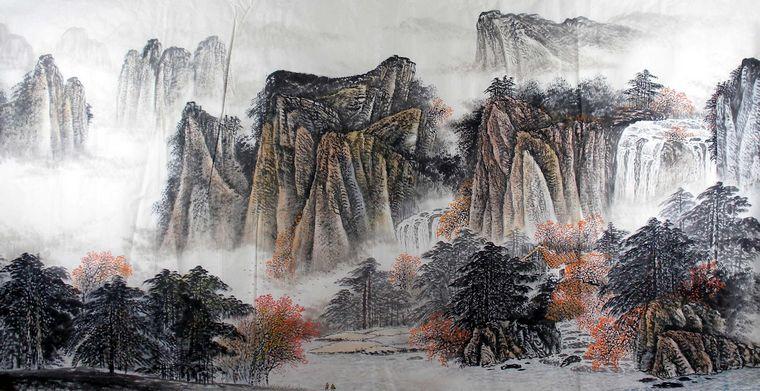 Www zihua01 com 宽 760x391 高 中国 画 壁纸 水墨 山水 画