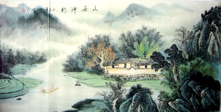 20783               次 产品简介:               水墨山水画,林云