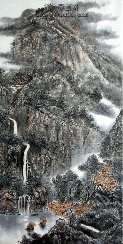 急!现代和古代中国山水画名家的介绍,作品和画法?图片