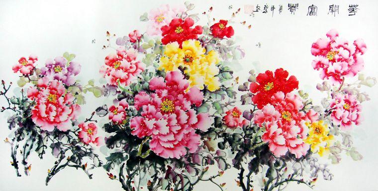 中国写意牡丹画
