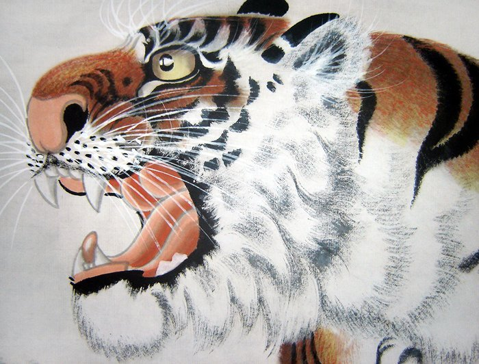 工笔虎画|工笔老虎画|老虎水墨画|上山虎图片|上山虎