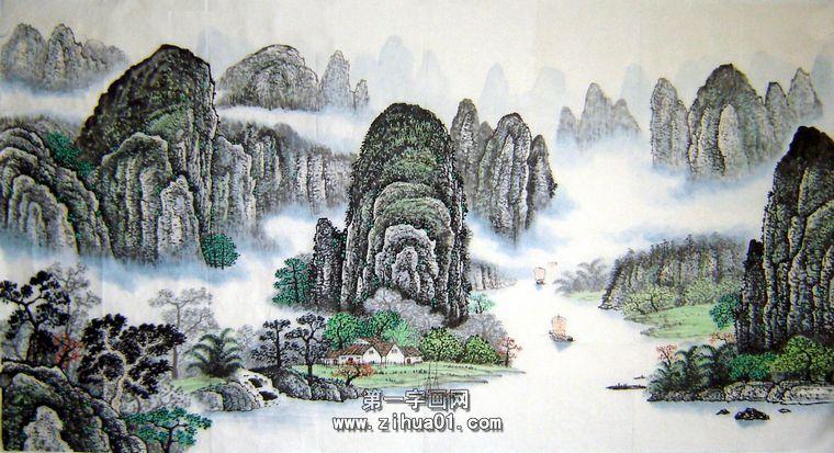 国画写意山水画 - 第一字画网